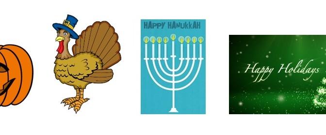 Gluten Free Holiday Tips: Halloween, Thanksgiving, Hanukah, Christmas
