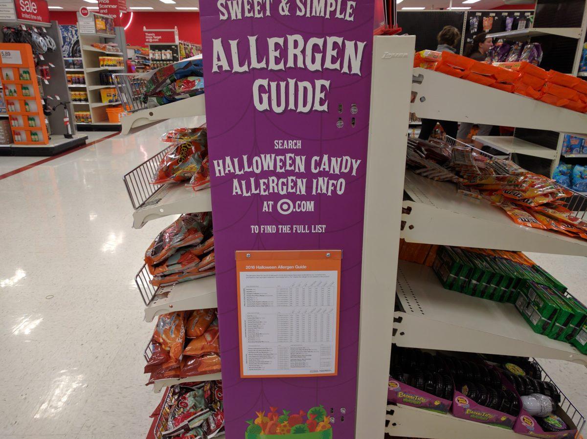Target Halloween Allergen Guide 2016